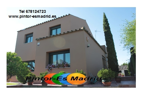 Pintura exterior de su casa pintor mariano madrid for Colores de pinturas para casas 2016